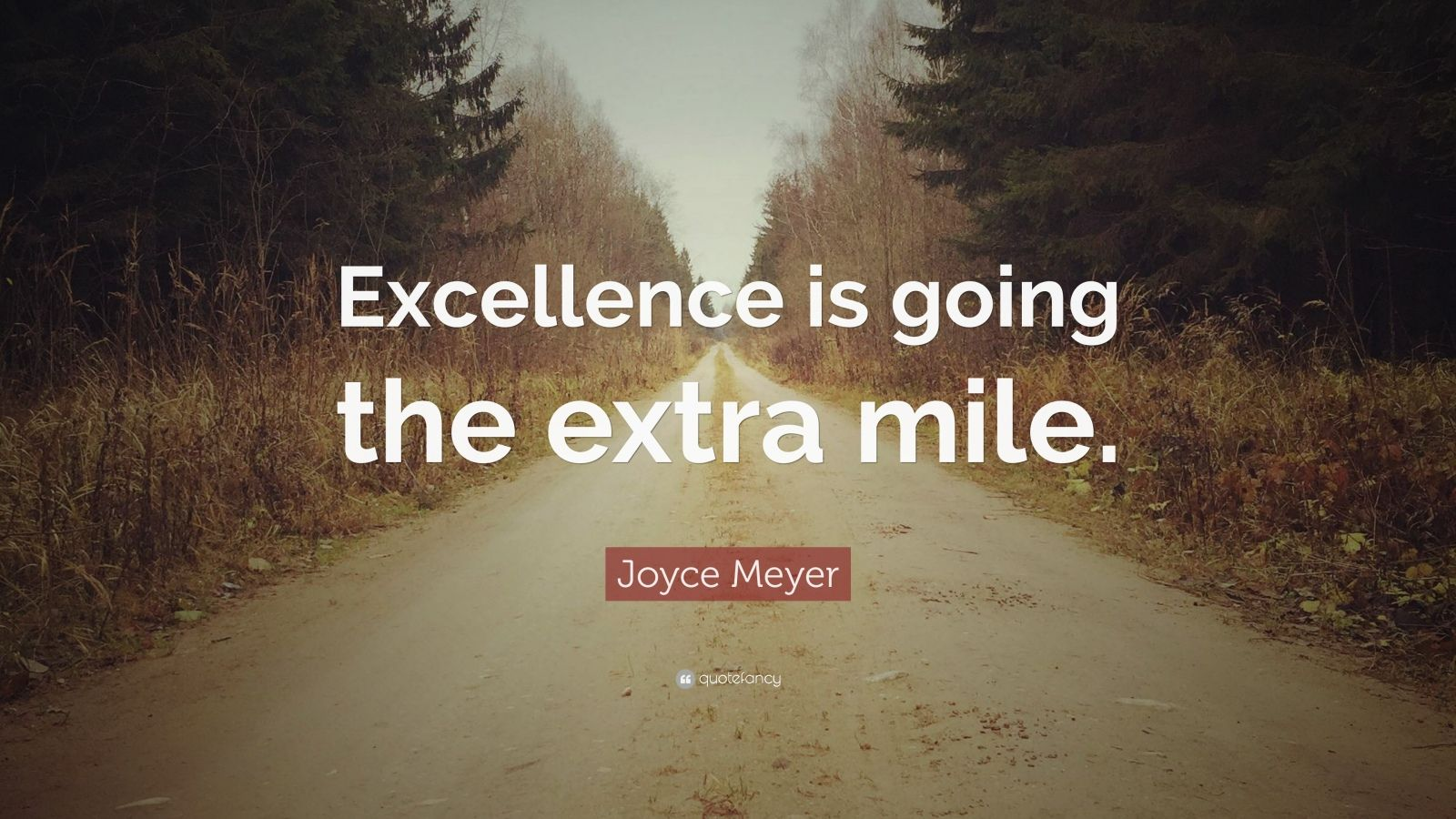 "Joyce Meyer Quote: ""Excellence is going the extra mile."""