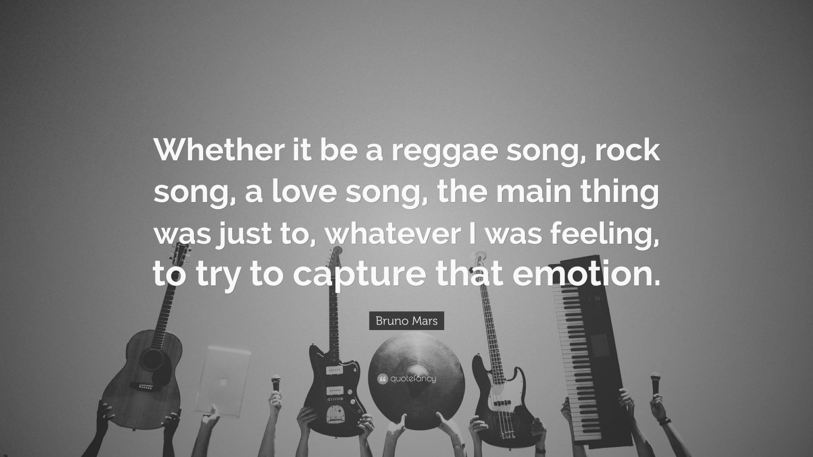 """Bruno Mars Quote: """"Whether It Be A Reggae Song, Rock Song"""
