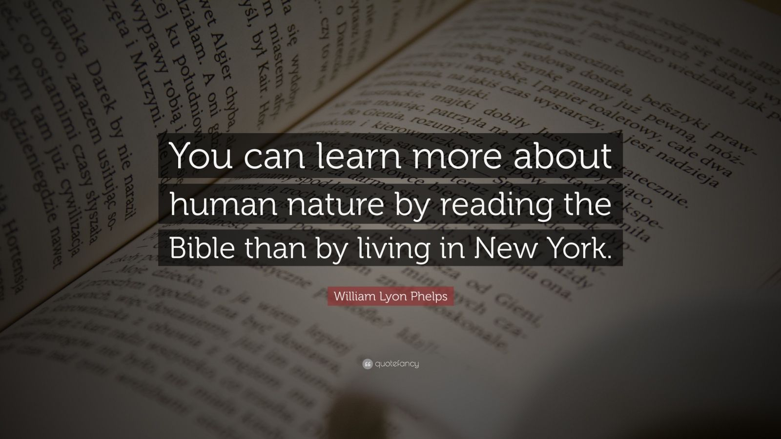 "William Lyon Phelps Quote: ""You Can Learn More About Human"