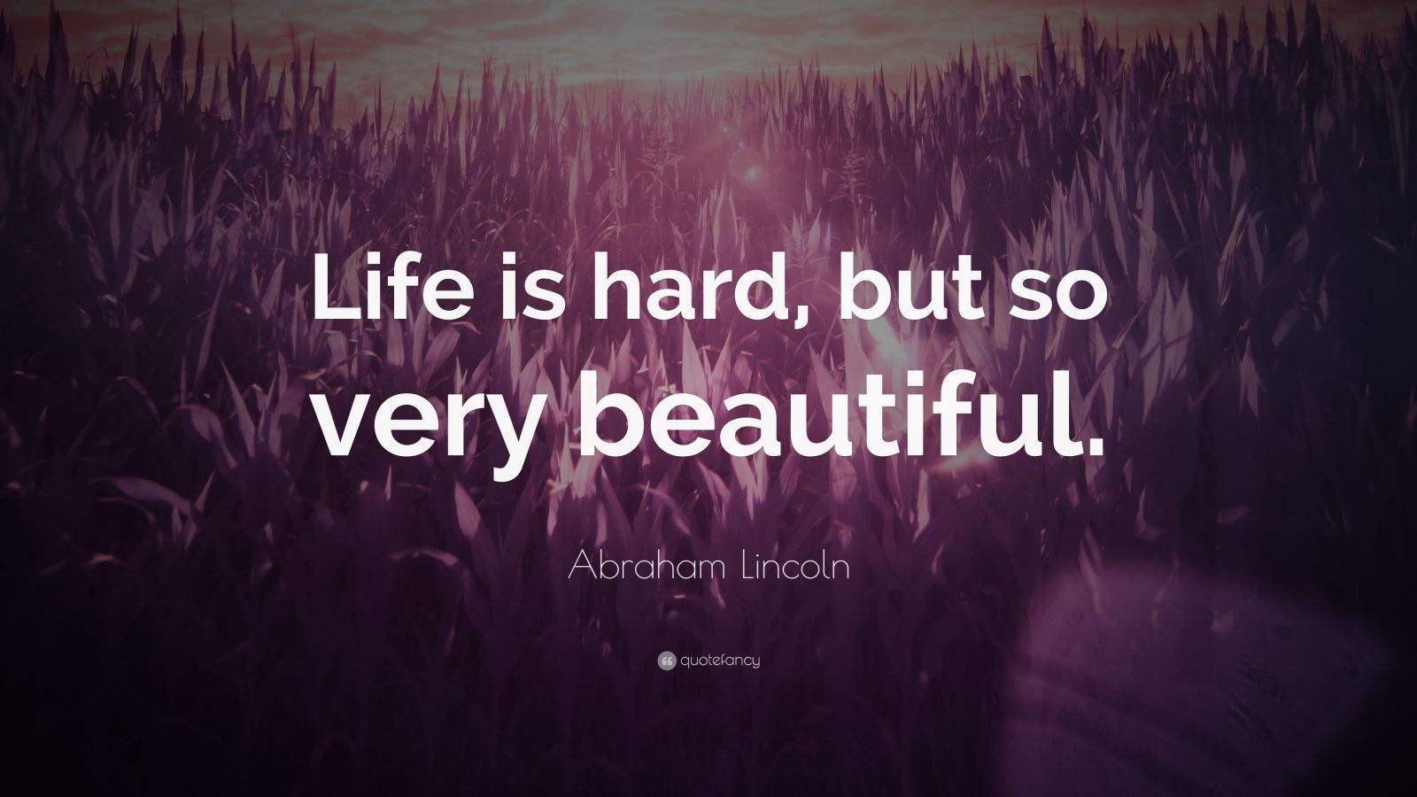 """Abraham Lincoln Quote: """"Life Is Hard, But So Very"""