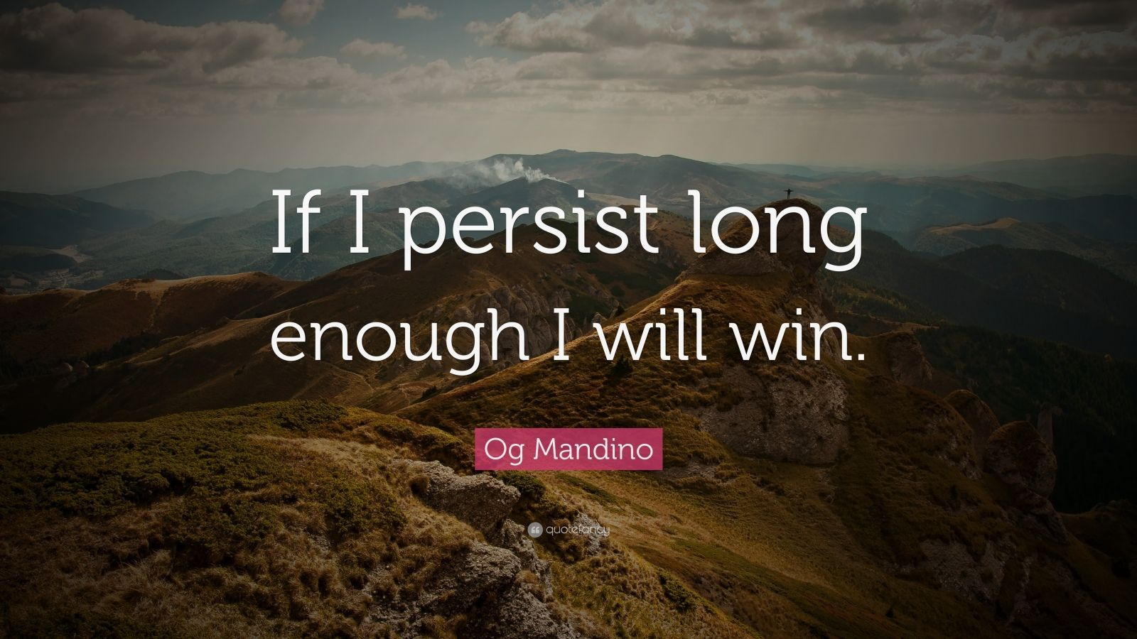 og mandino for the rest of Og mandino (1923 - 1996) was a sales guru and author of the bestselling book the greatest salesman in the world i will work when failures seek rest.