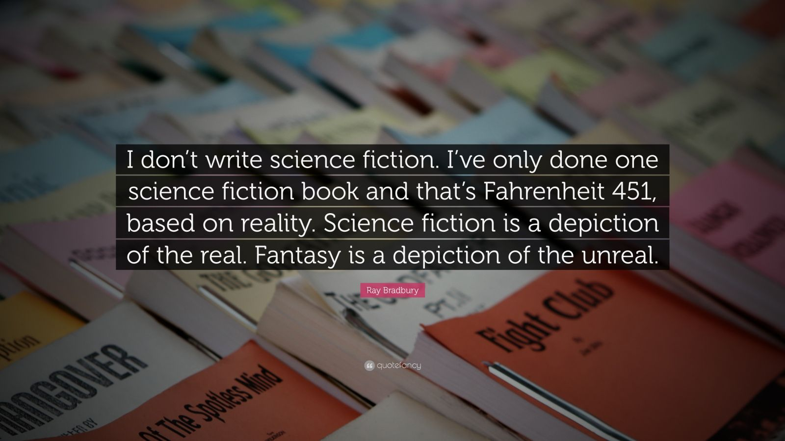 fahrenheit 451 and science fiction The purpose of this site is to examine the film fahrenheit 451, its themes, characters, and importance in science fiction.