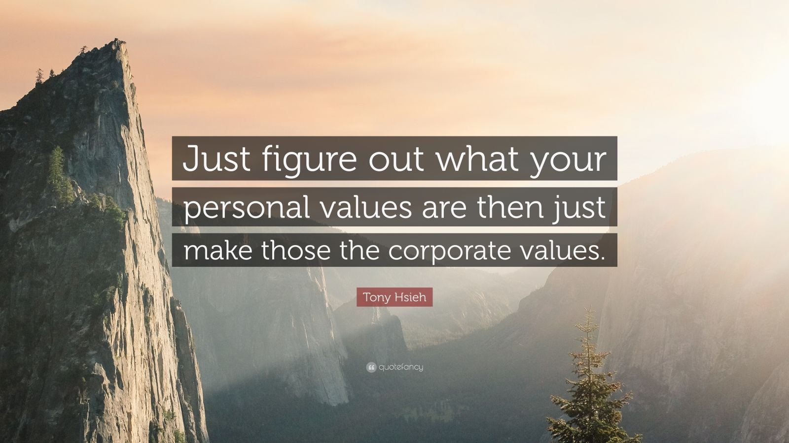 "Tony Hsieh Quote: ""Just figure out what your personal values are then just make those the corporate values."""