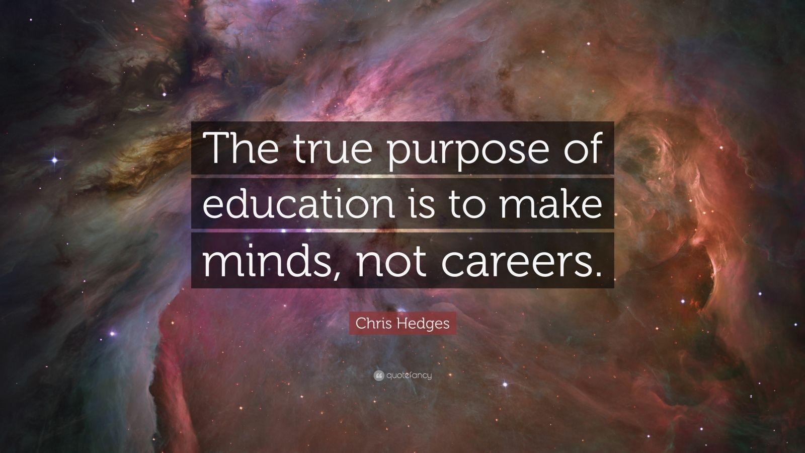 Essay true purpose of education