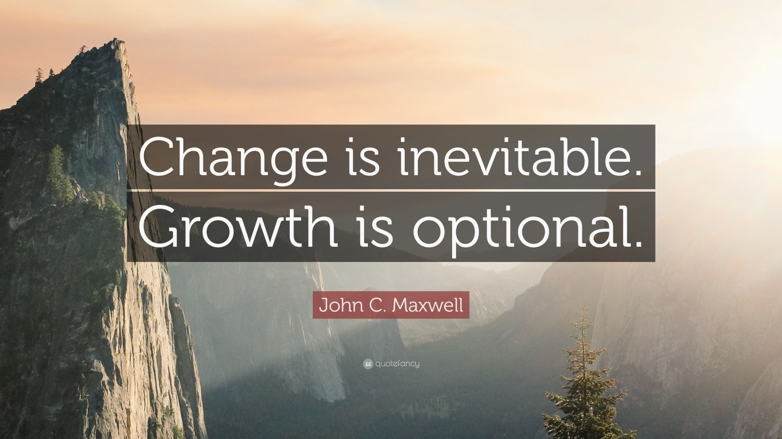 "John C. Maxwell Quote: ""Change is inevitable. Growth is optional."""