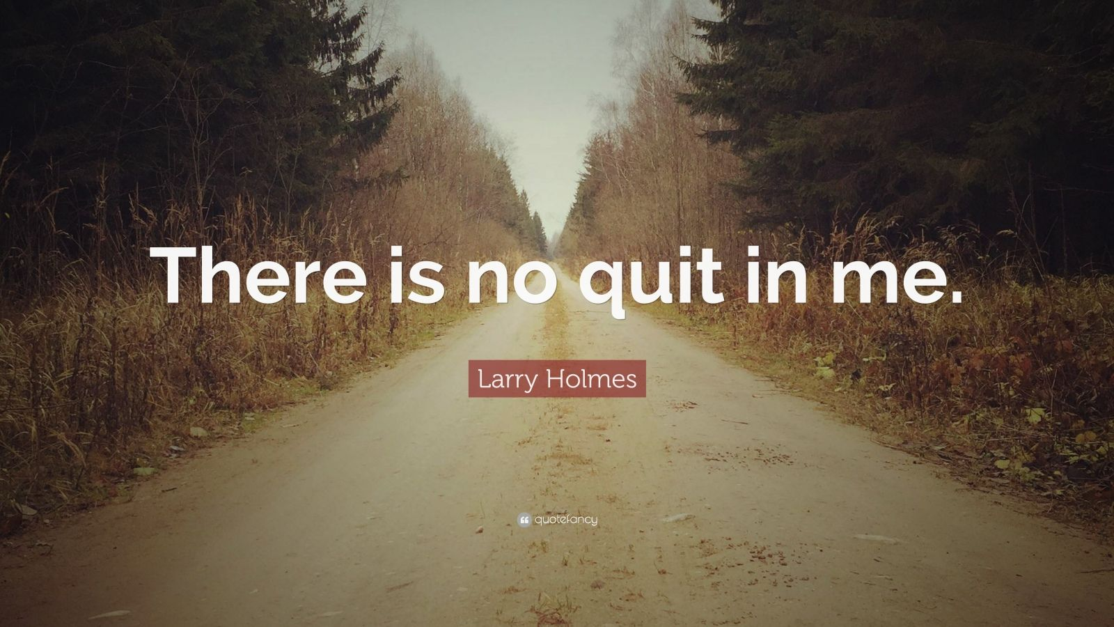 """Larry Holmes Quote: """"There is no quit in me."""""""