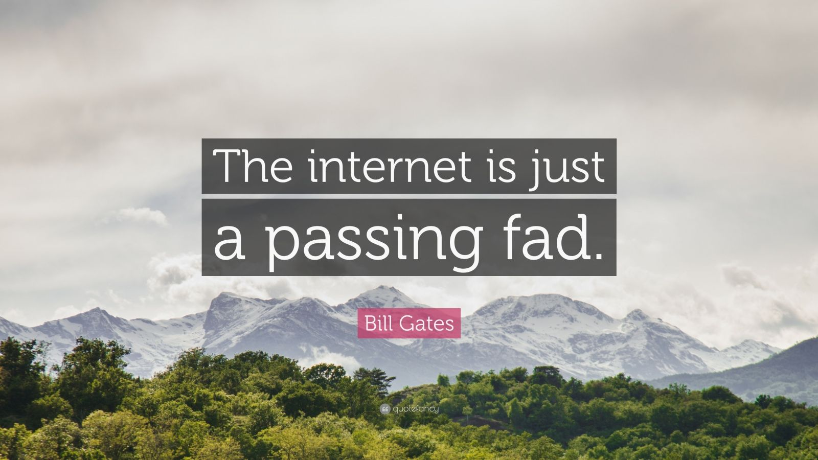 "Bill Gates Quote: ""The internet is just a passing fad."""
