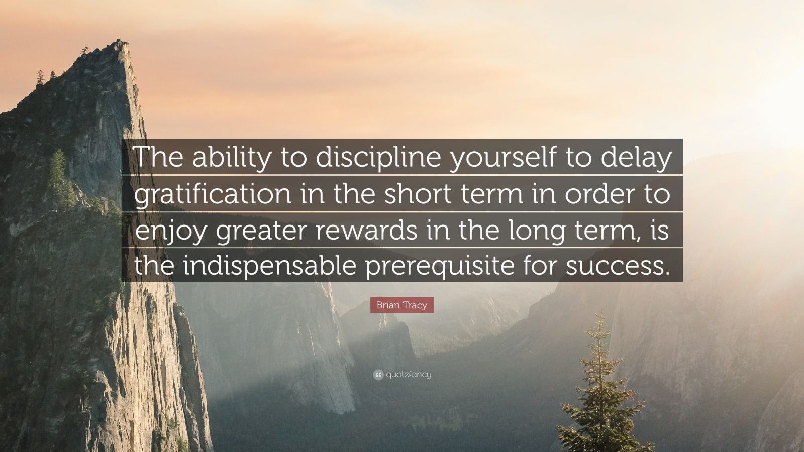 "Brian Tracy Quote: ""The ability to discipline yourself to delay gratification in the short term in order to enjoy greater rewards in the long term, is the indispensable prerequisite for success."""