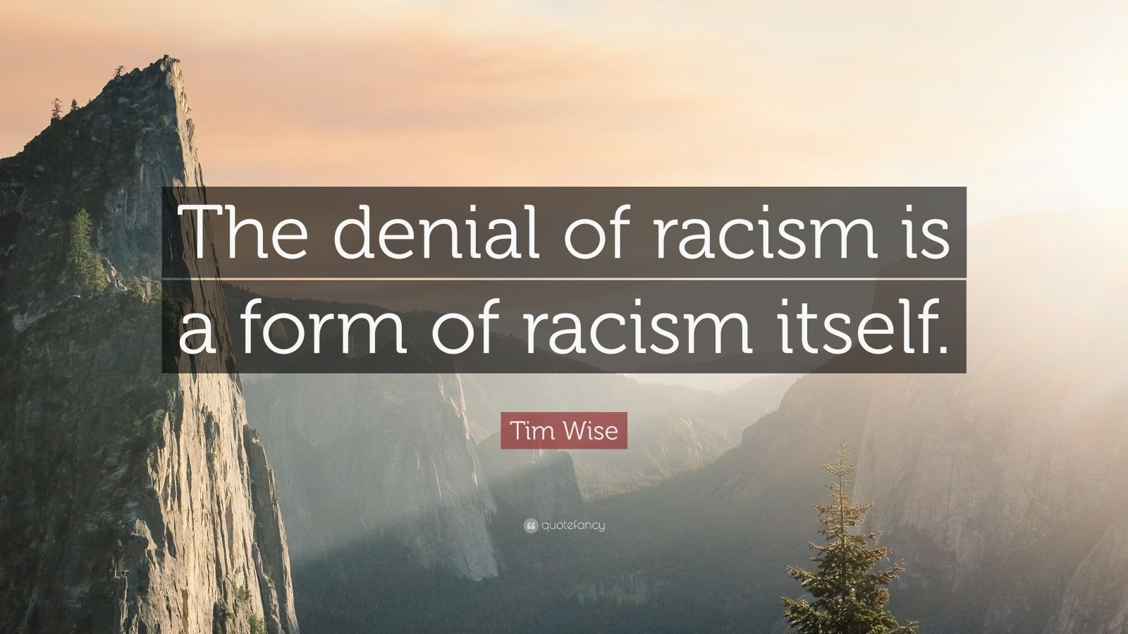 "Tim Wise Quote: ""The denial of racism is a form of racism itself."""