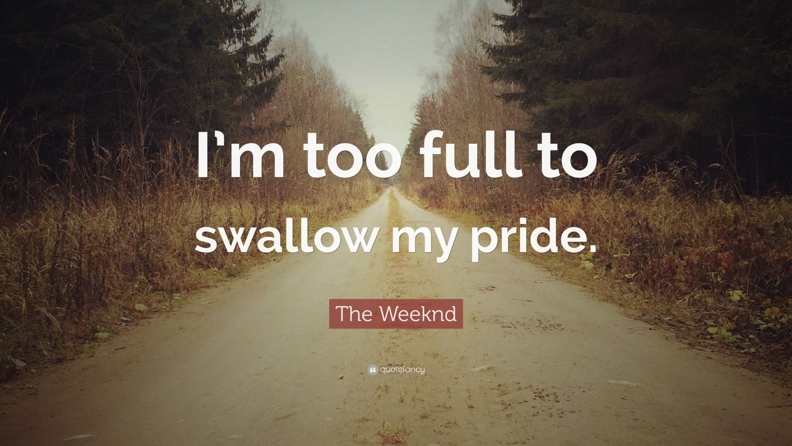Swallowing Your Pride Quotes: The Weeknd Quotes (17 Wallpapers)