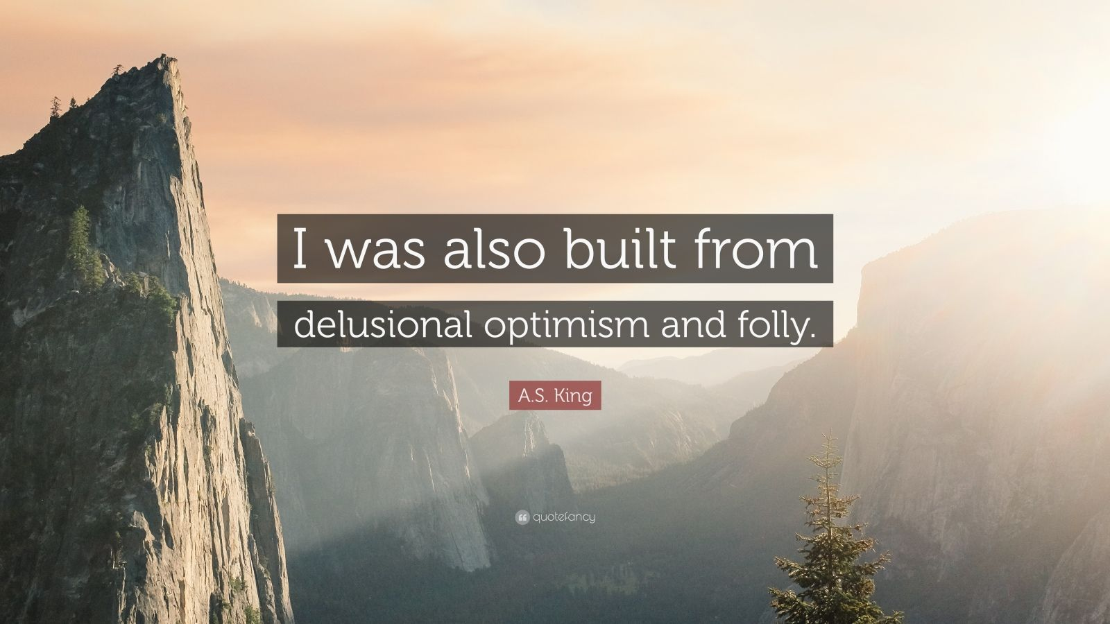 "A.S. King Quote: ""I was also built from delusional optimism and folly."""