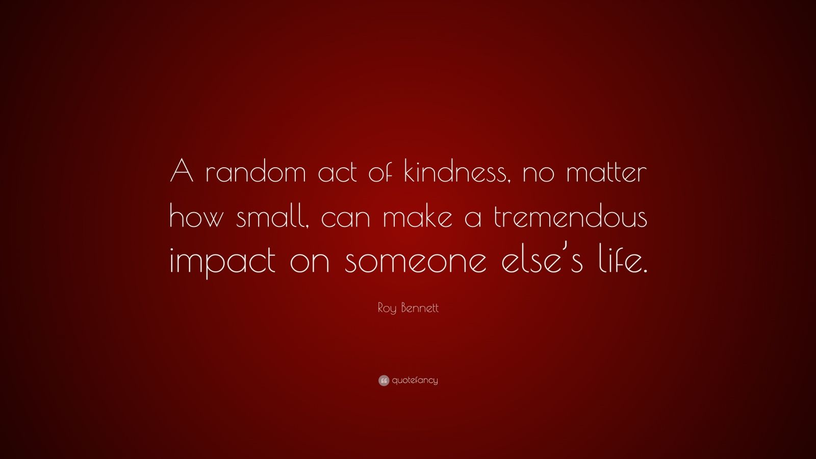 random act of kindness and small