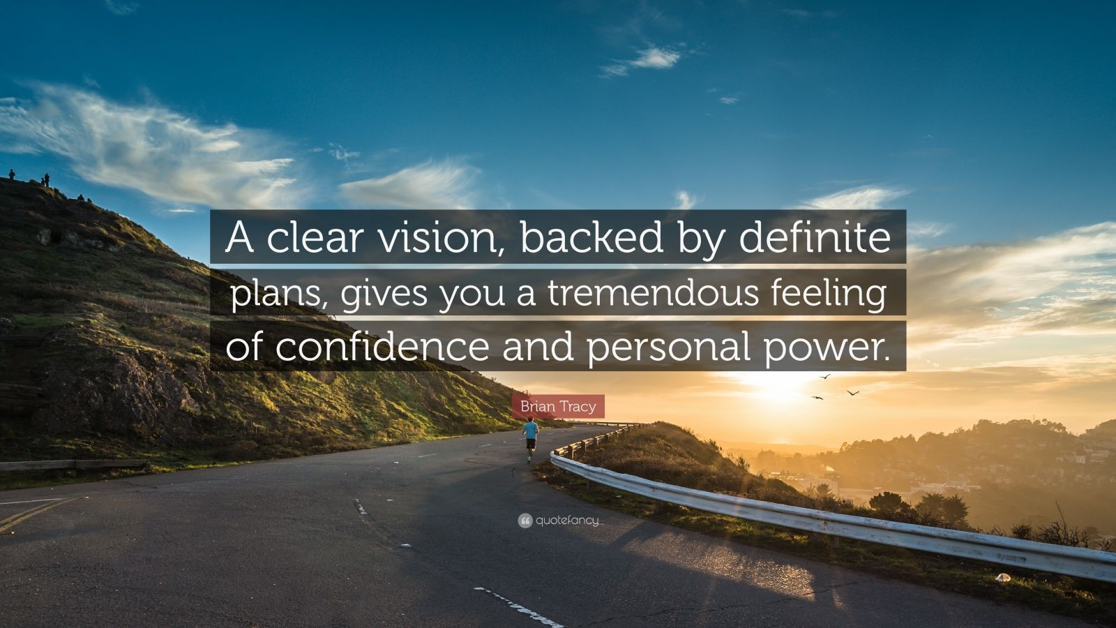 "Brian Tracy Quote: ""A Clear Vision, Backed By Definite"