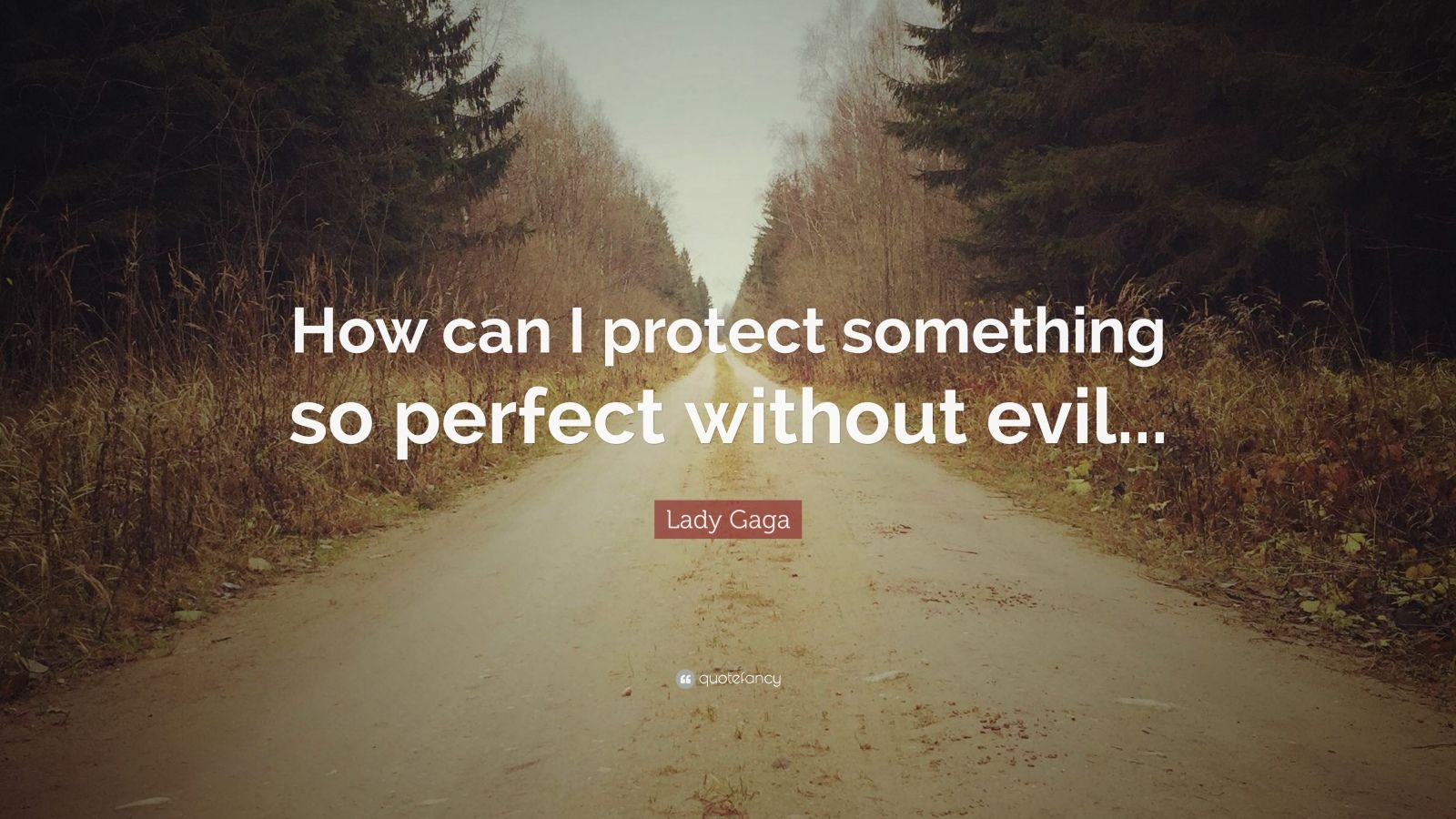 "Lady Gaga Quote: ""How can I protect something so perfect without evil..."""