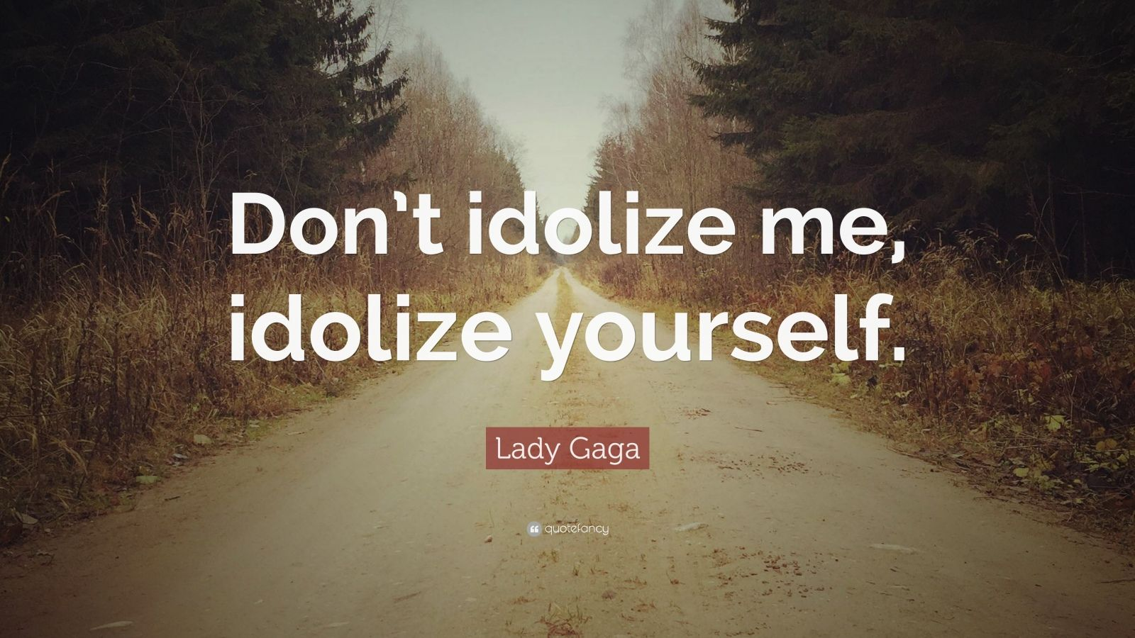 "Lady Gaga Quote: ""Don't idolize me, idolize yourself."""