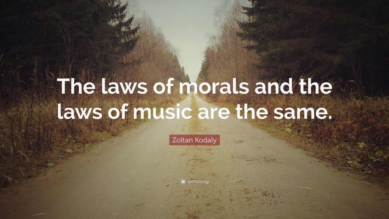"Zoltan Kodaly Quote: ""The laws of morals and the laws of music are the same."""