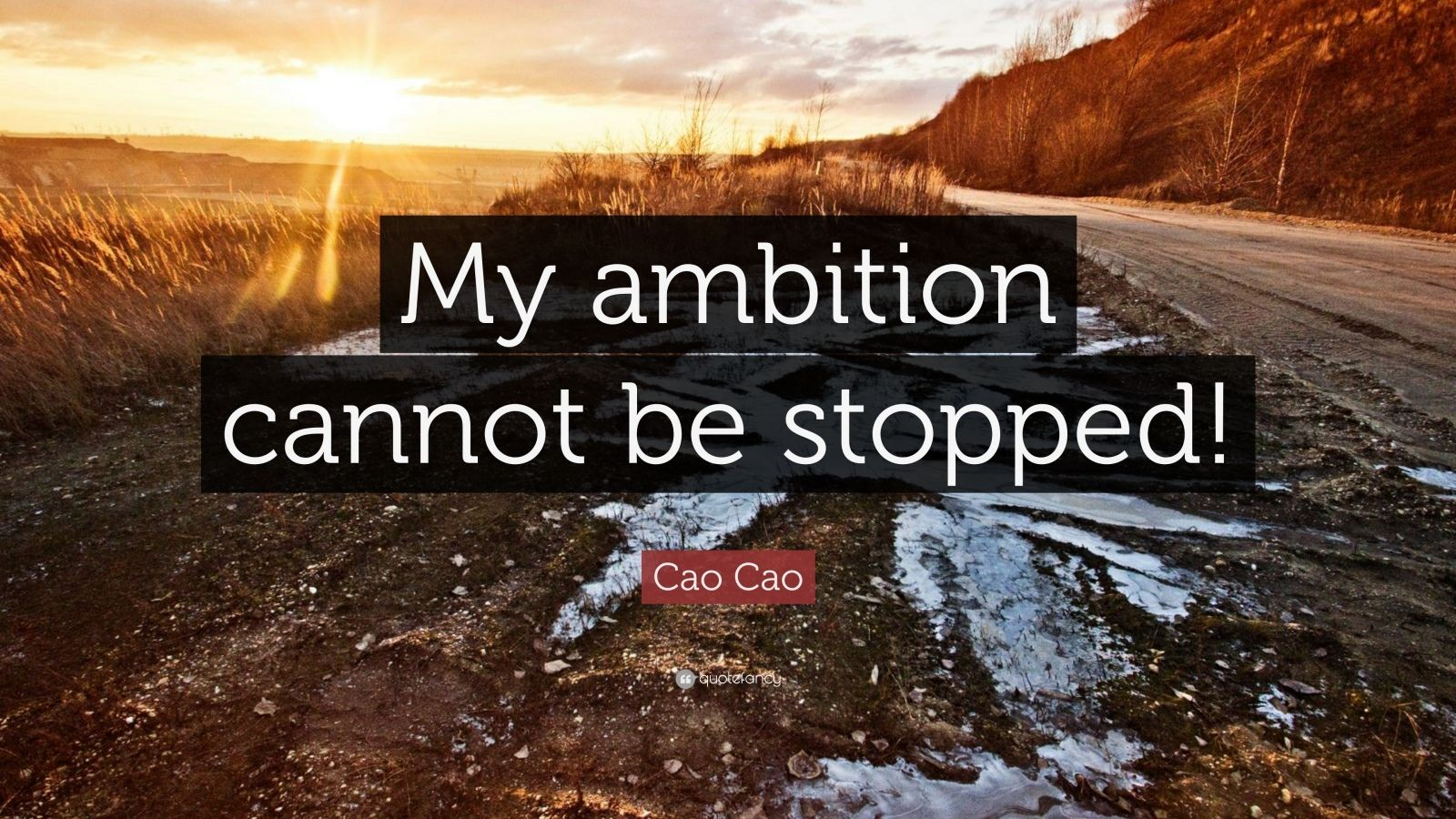 "Cao Cao Quote: ""My ambition cannot be stopped!"""