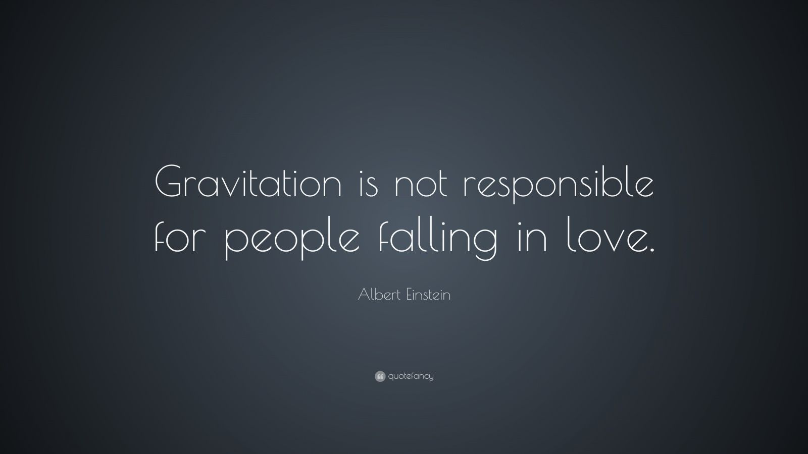 gravitation is not responsible for people falling by