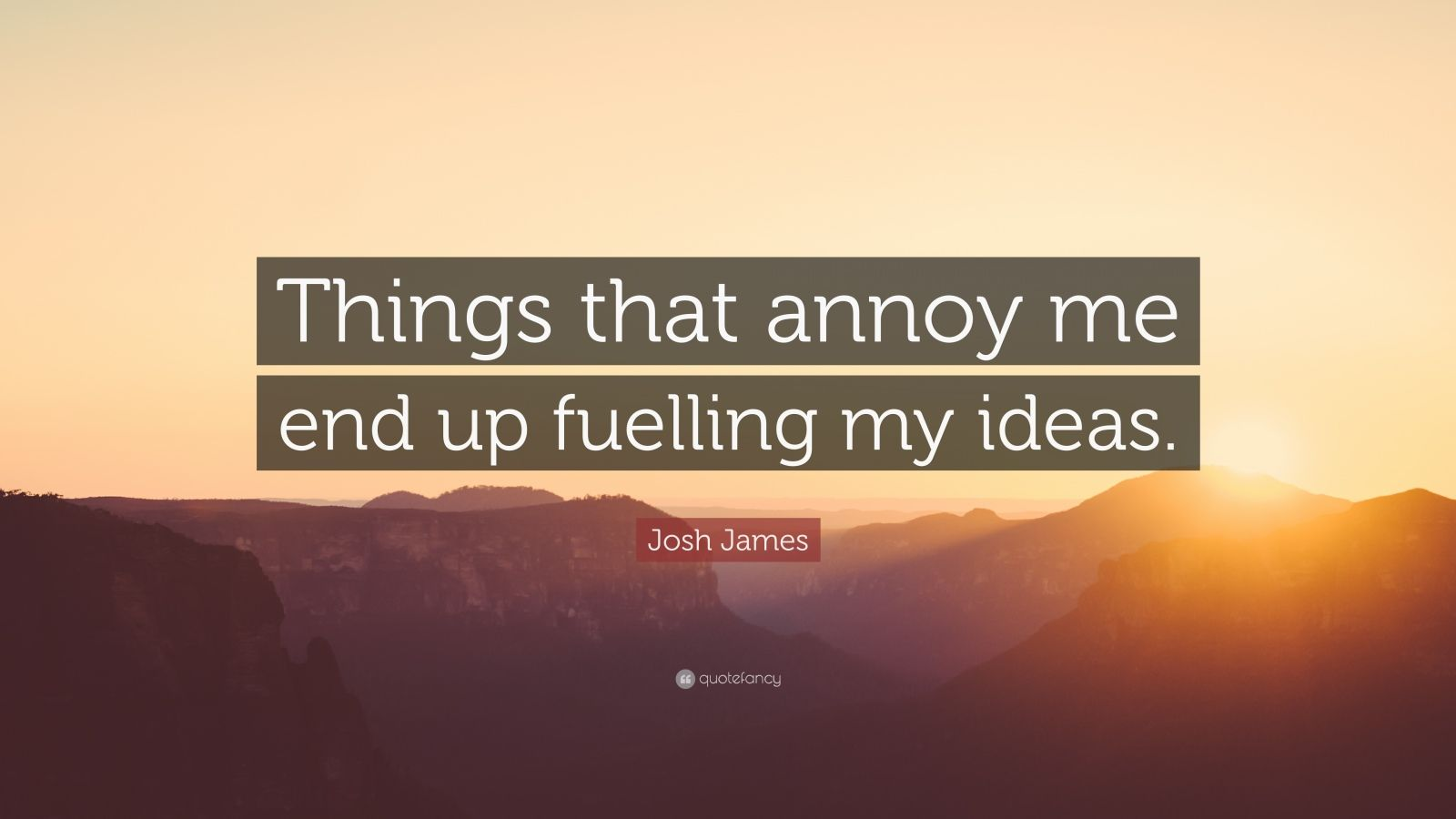 "Josh James Quote: ""Things that annoy me end up fuelling my ideas."""
