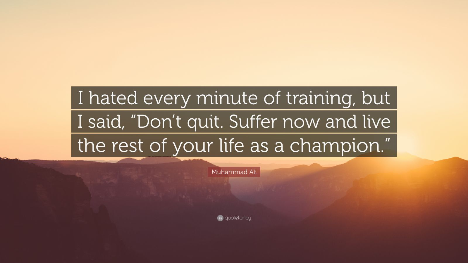 Muhammad Ali Quotes I Hated Every