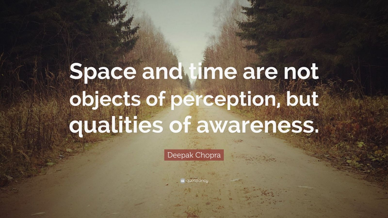 "Deepak Chopra Quote: ""Space and time are not objects of perception, but qualities of awareness."""
