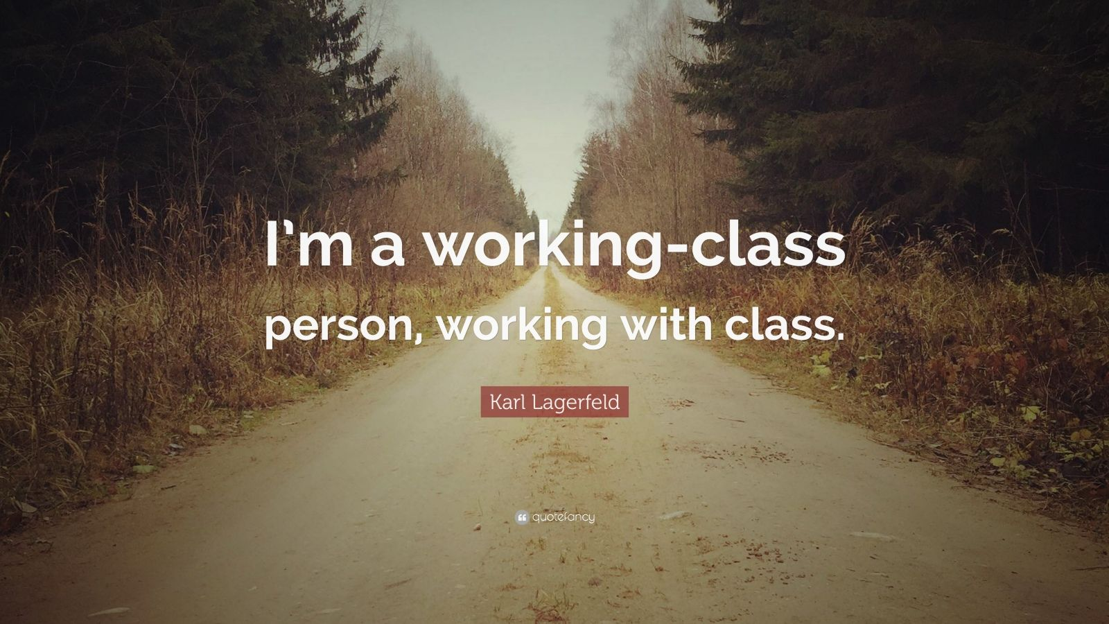"Karl Lagerfeld Quote: ""I'm a working-class person, working with class."""