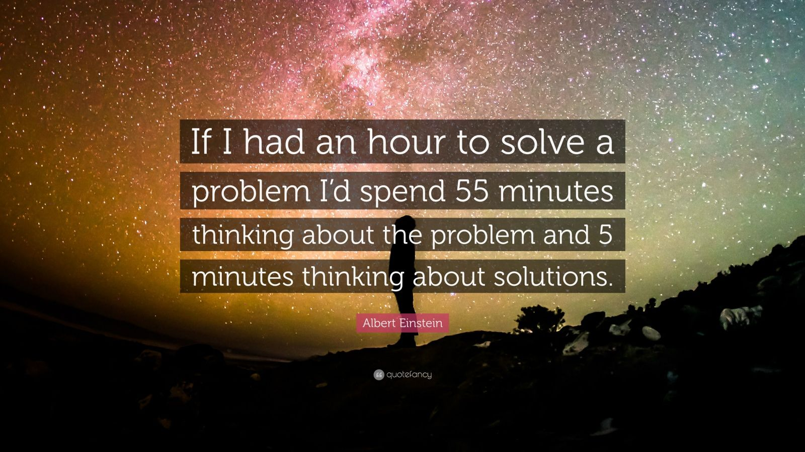 how to solve a problem albert einstein