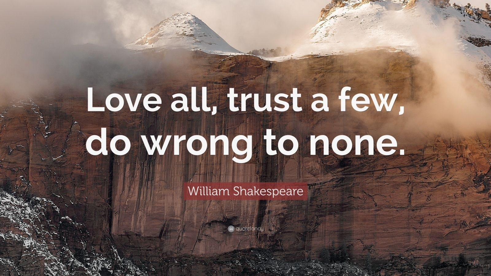 william shakespeare enjoy most faith a new few