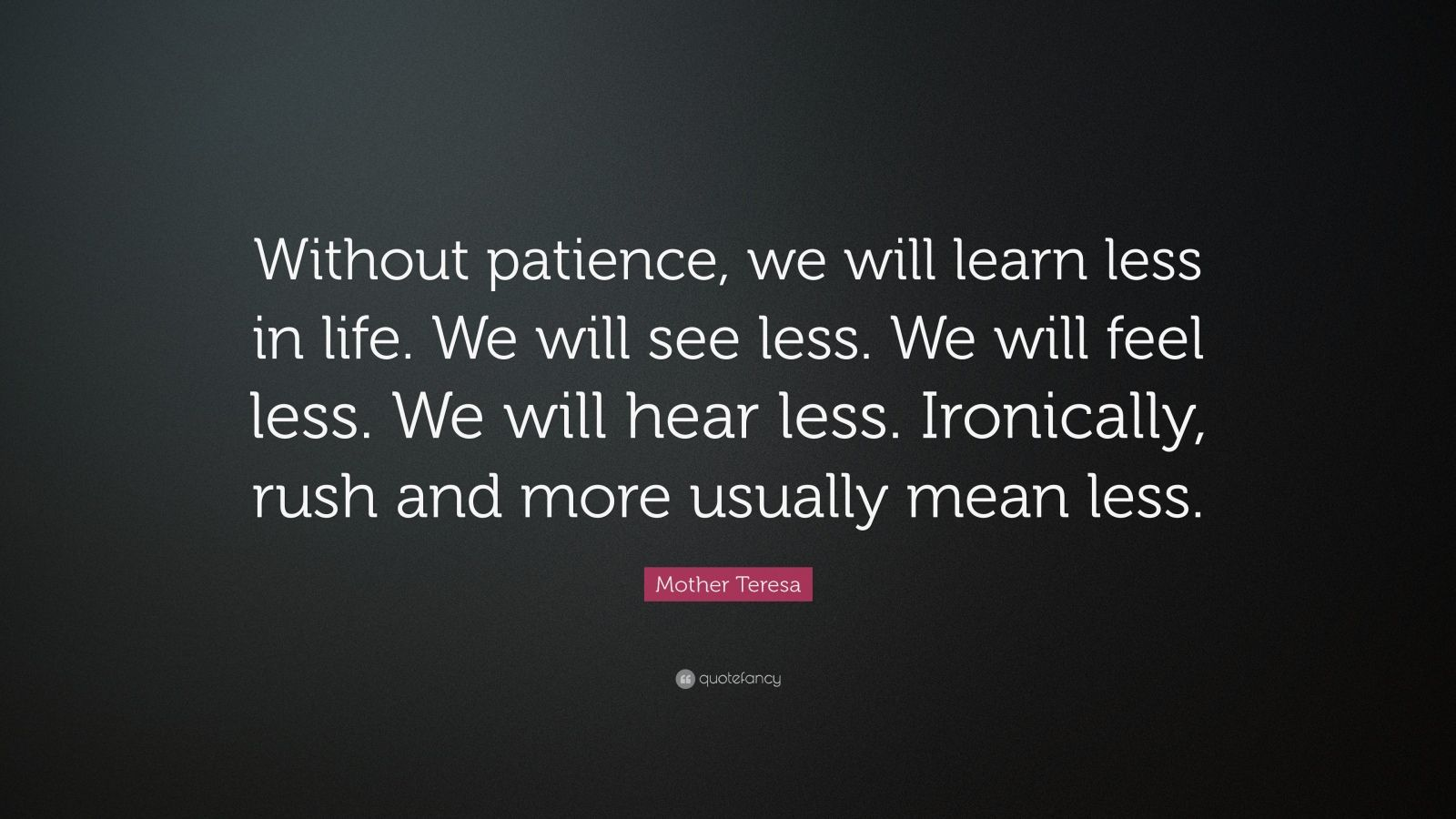 Elegant Patience Quotes: U201cWithout Patience, We Will Learn Less In Life. We Will