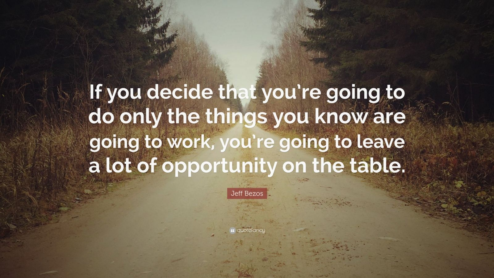 """Jeff Bezos Quote: """"If you decide that you're going to do ..."""