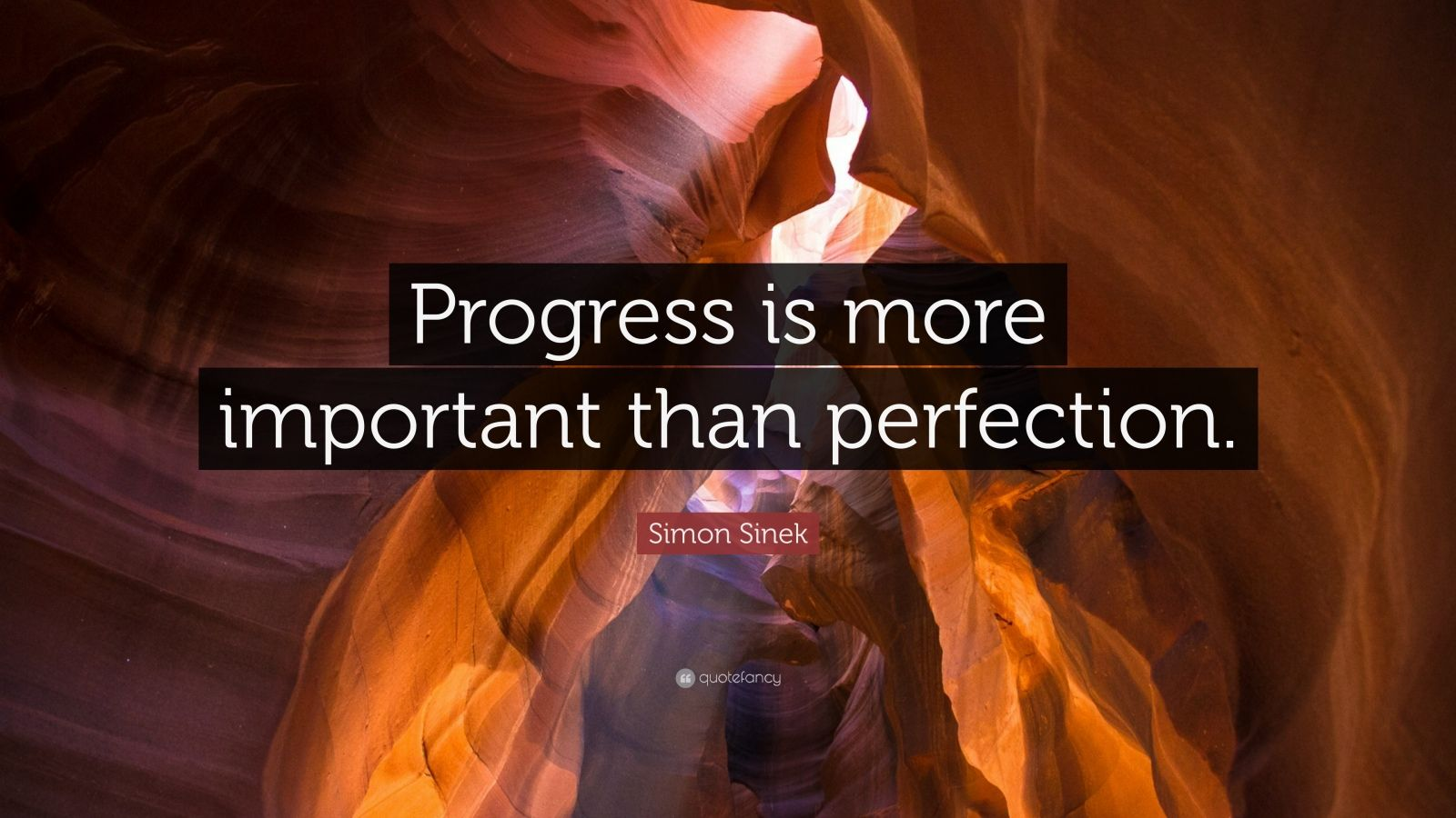 "Persistence Motivational Quotes: Simon Sinek Quote: ""Progress Is More Important Than"