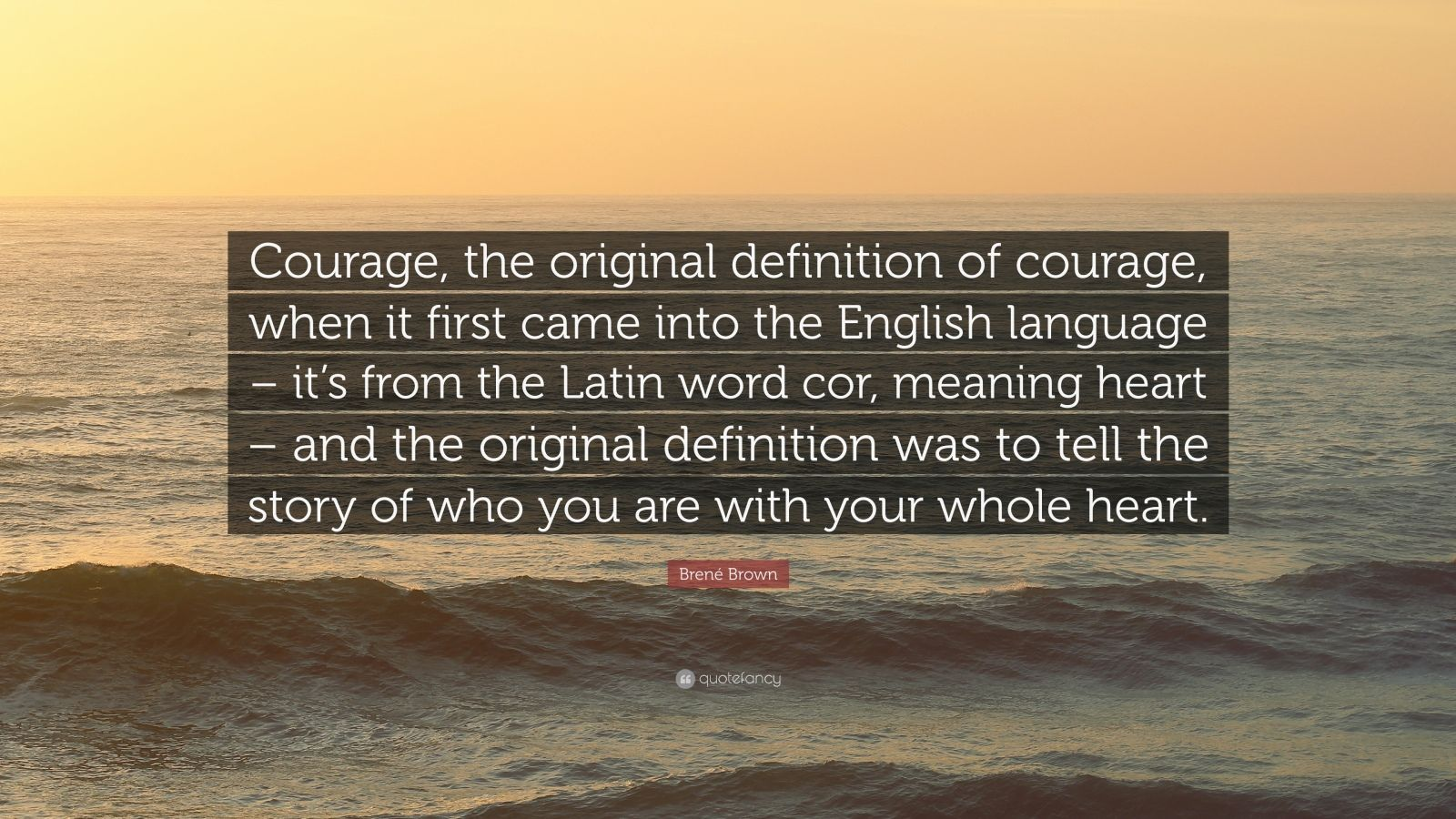 the definitions of courage