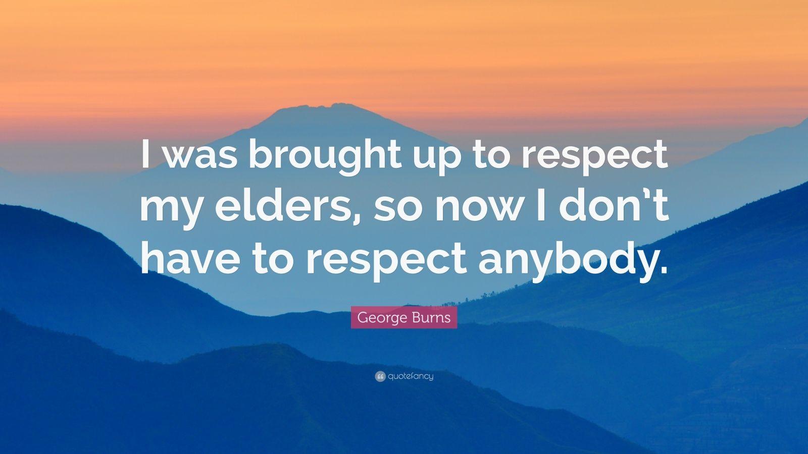respect the elders essay