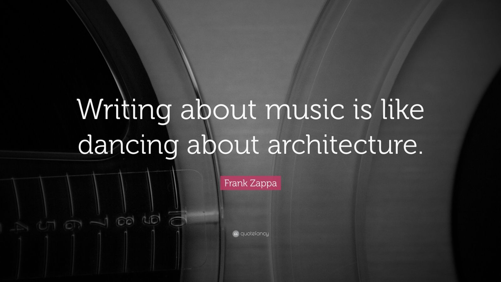 writing about music is like dancing about architecture Week #715 -- writing about music is like dancing about architecture - the fat chick dances about the coonley playhouse by frank lloyd wright.
