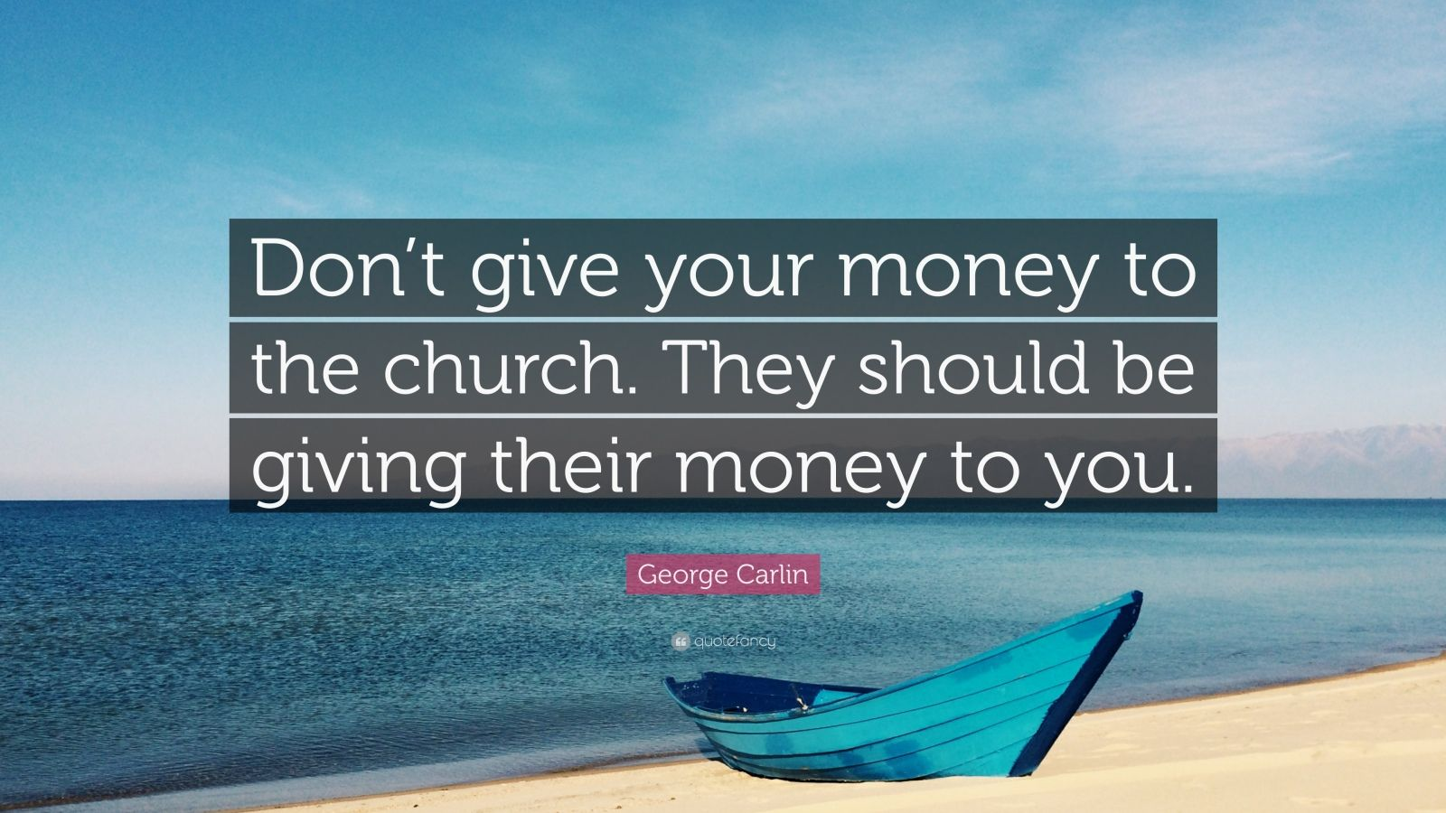 Giving Money To The Church George Carlin Q...