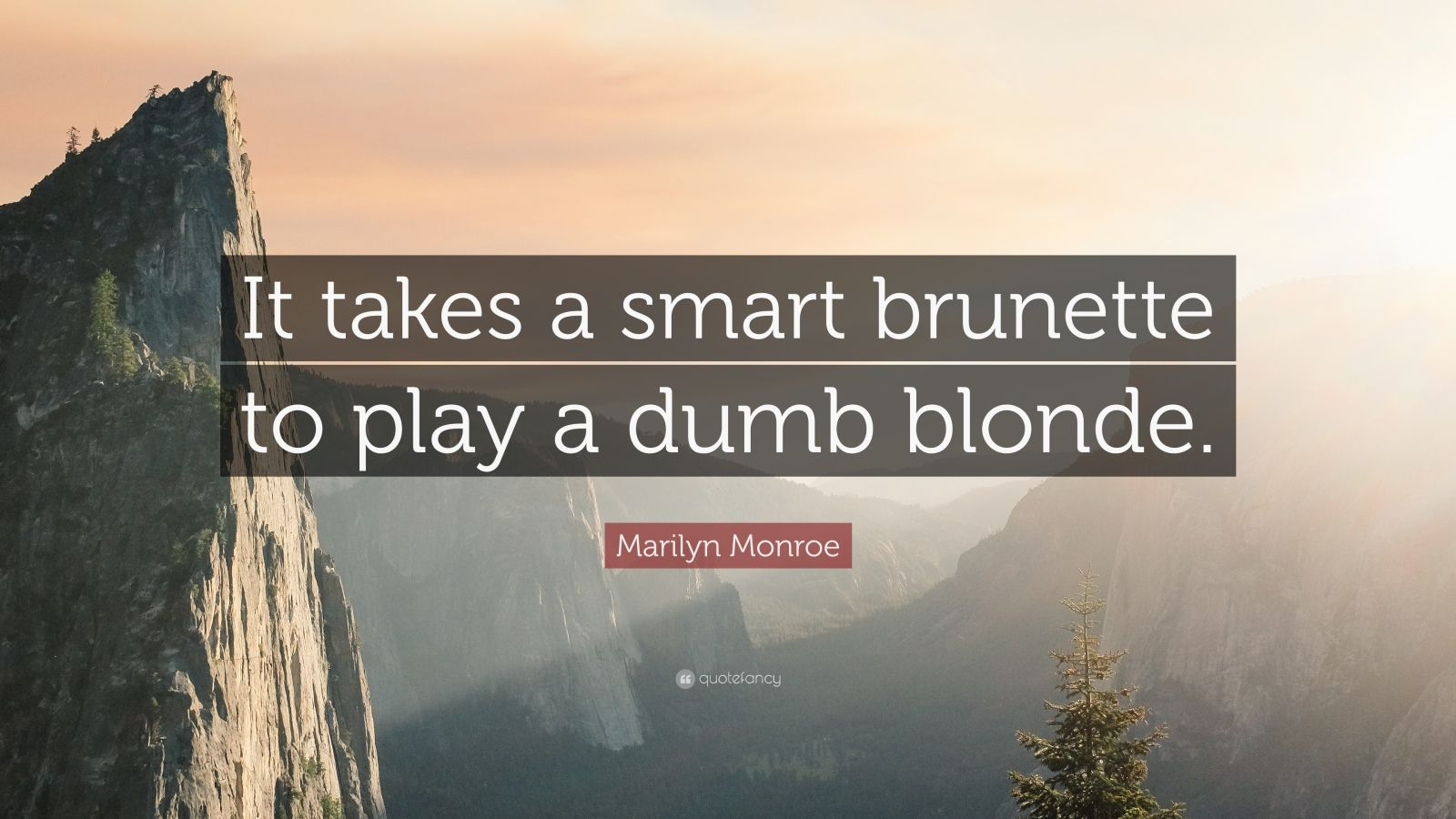 It takes a smart brunette to play a dumb blonde. Marilyn ...