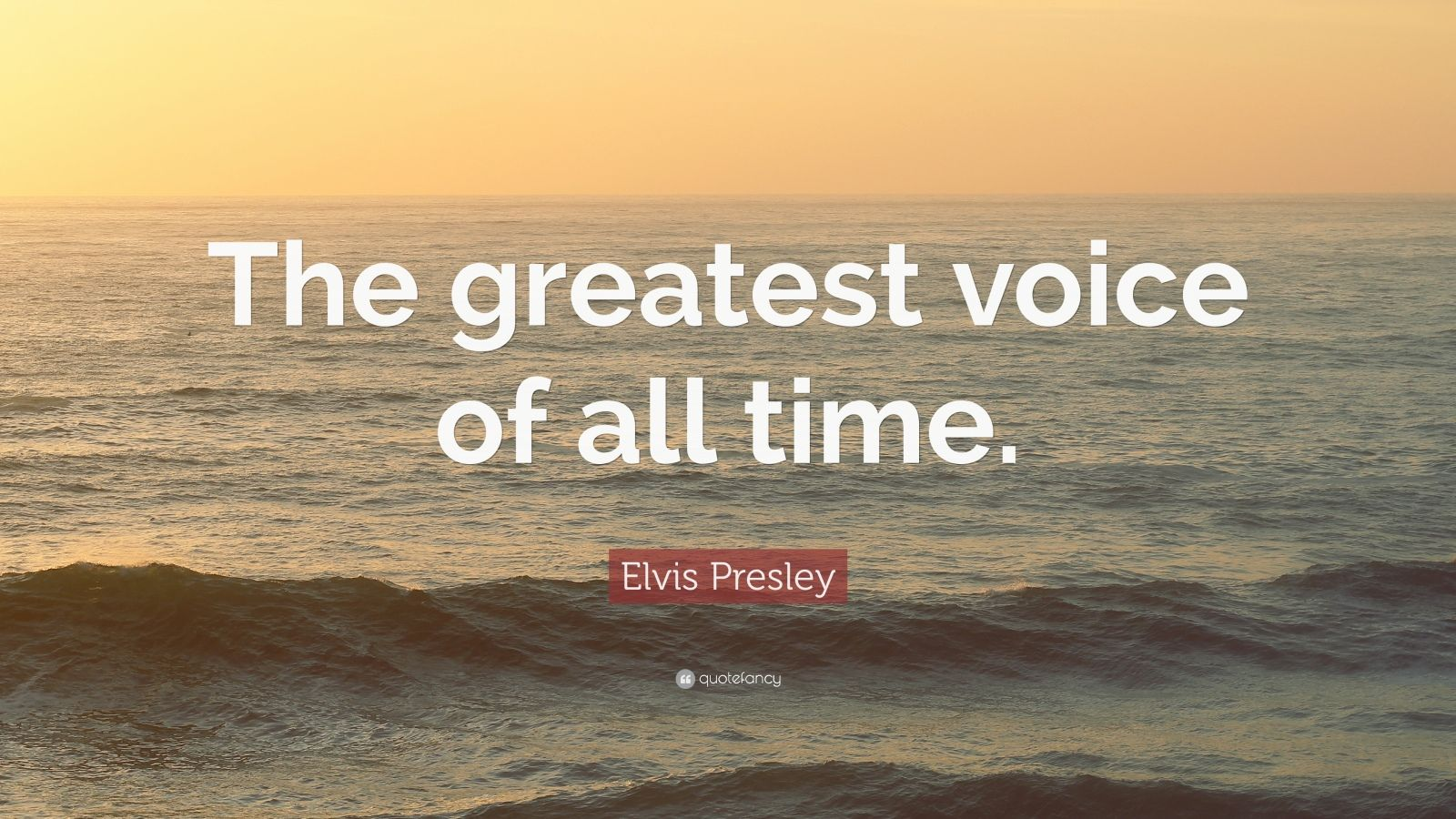 "Elvis Presley Quote: ""The greatest voice of all time."""