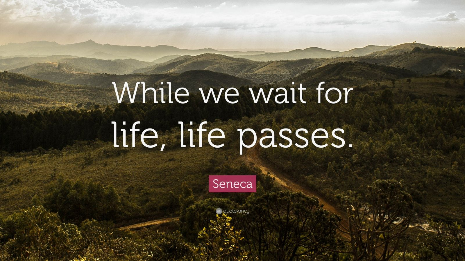 "Seneca Quote: ""While we wait for life, life passes."""