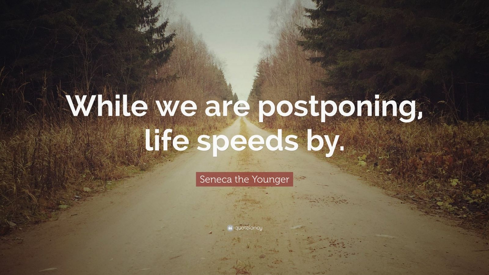 "Seneca the Younger Quote: ""While we are postponing, life speeds by."""