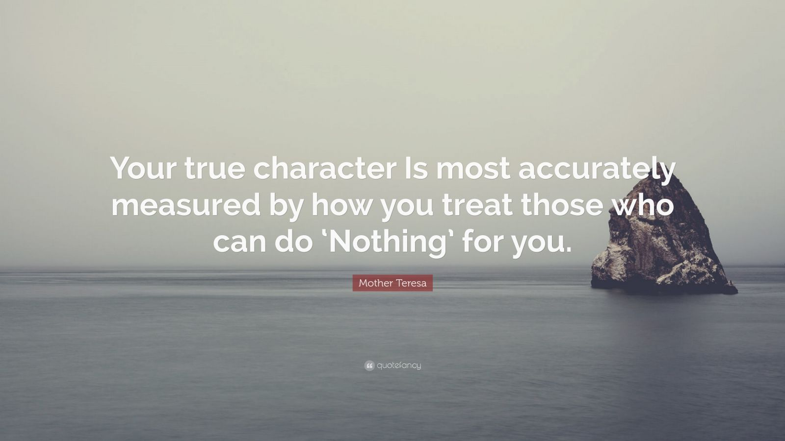 mother teresa quote �your true character is most