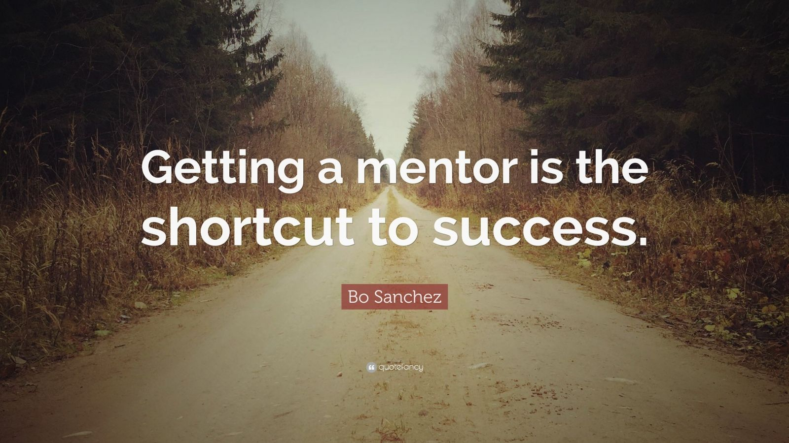 "Bo Sanchez Quote: ""Getting a mentor is the shortcut to success."""