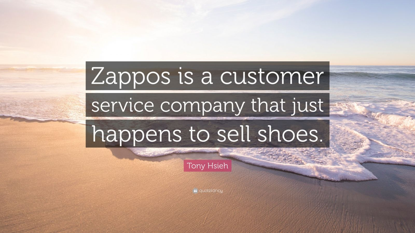 """Tony Hsieh Quote: """"Zappos is a customer service company that just happens to sell shoes."""""""