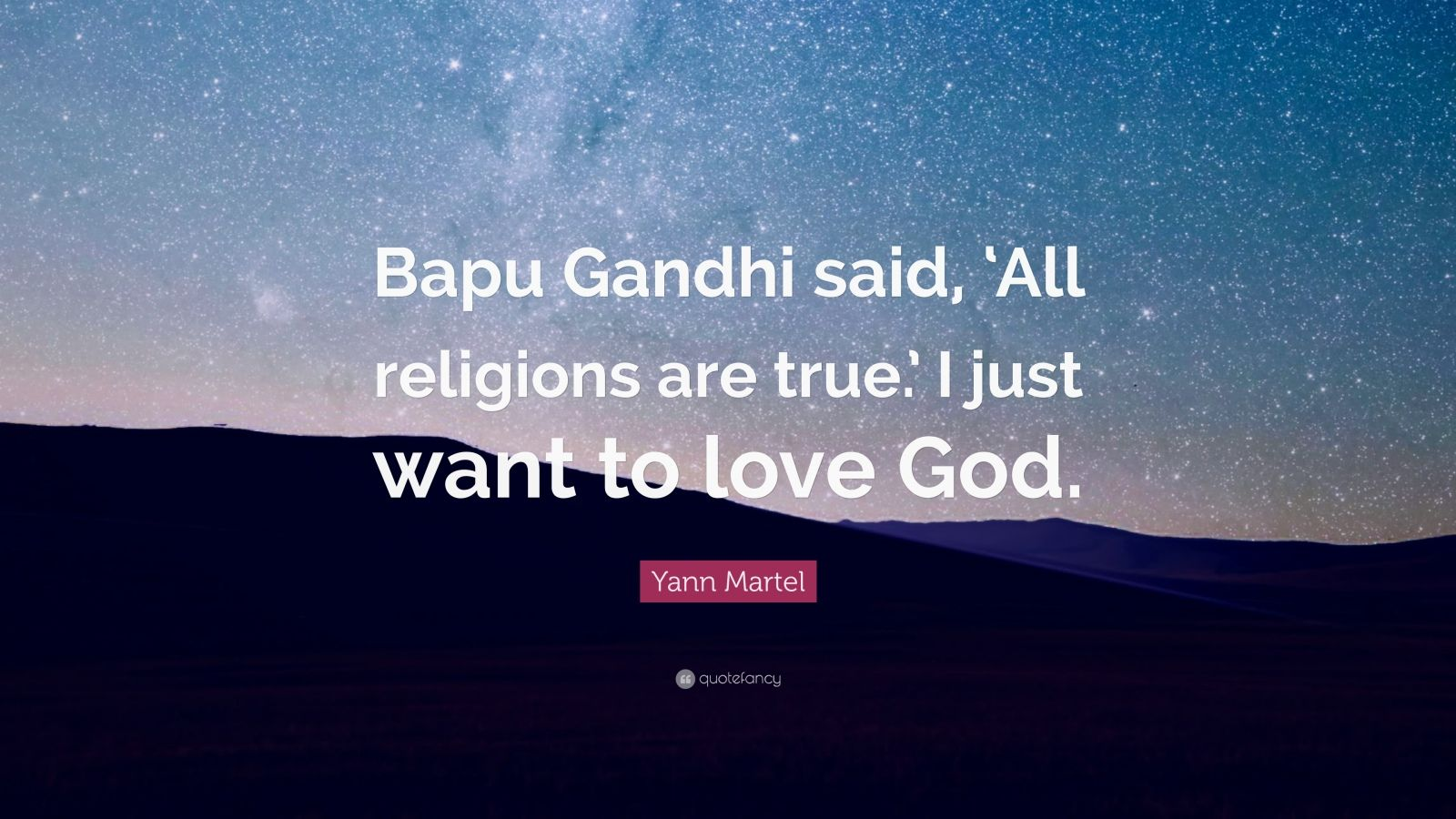 bapu gandhi said Get an answer for 'pi's allegiance to all three religions is brought into question in life of pi how does pi triumph and make all three spiritual leaders appear.