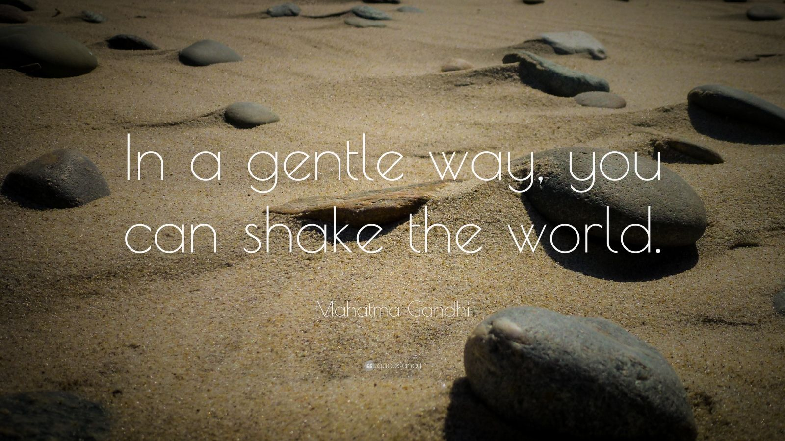 A Gentle Way You Can Shake the World in Gandhi