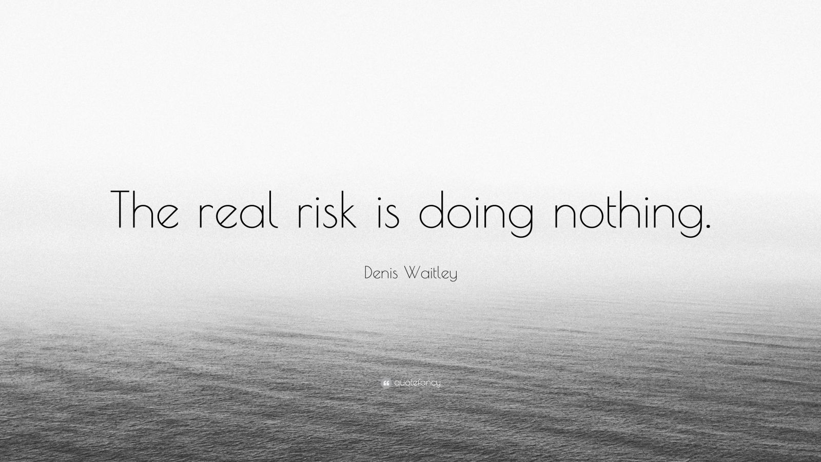 "Denis Waitley Quote: ""The real risk is doing nothing."""
