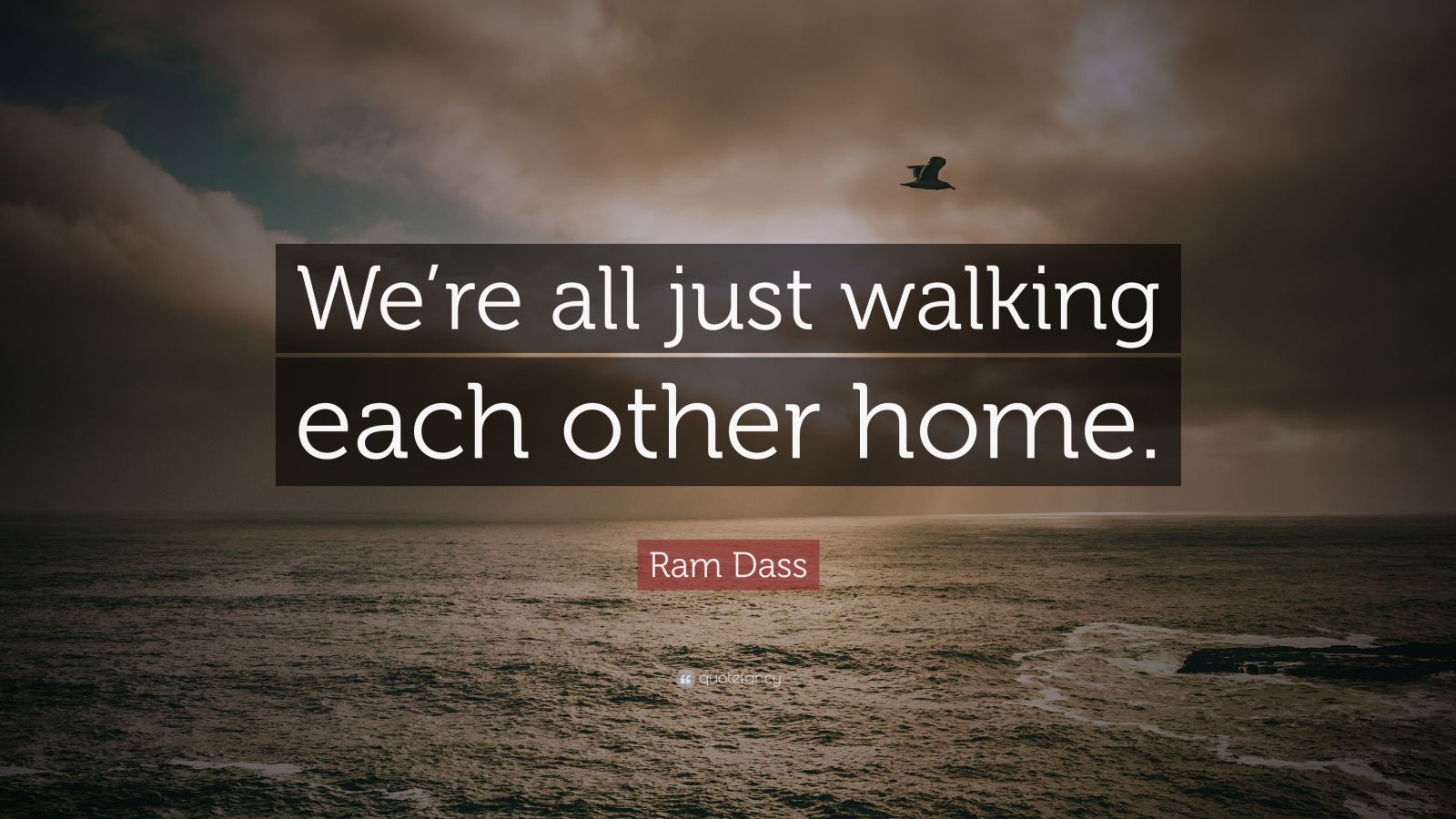 Ram Dass Quote We Re All Just Walking Each Other Home
