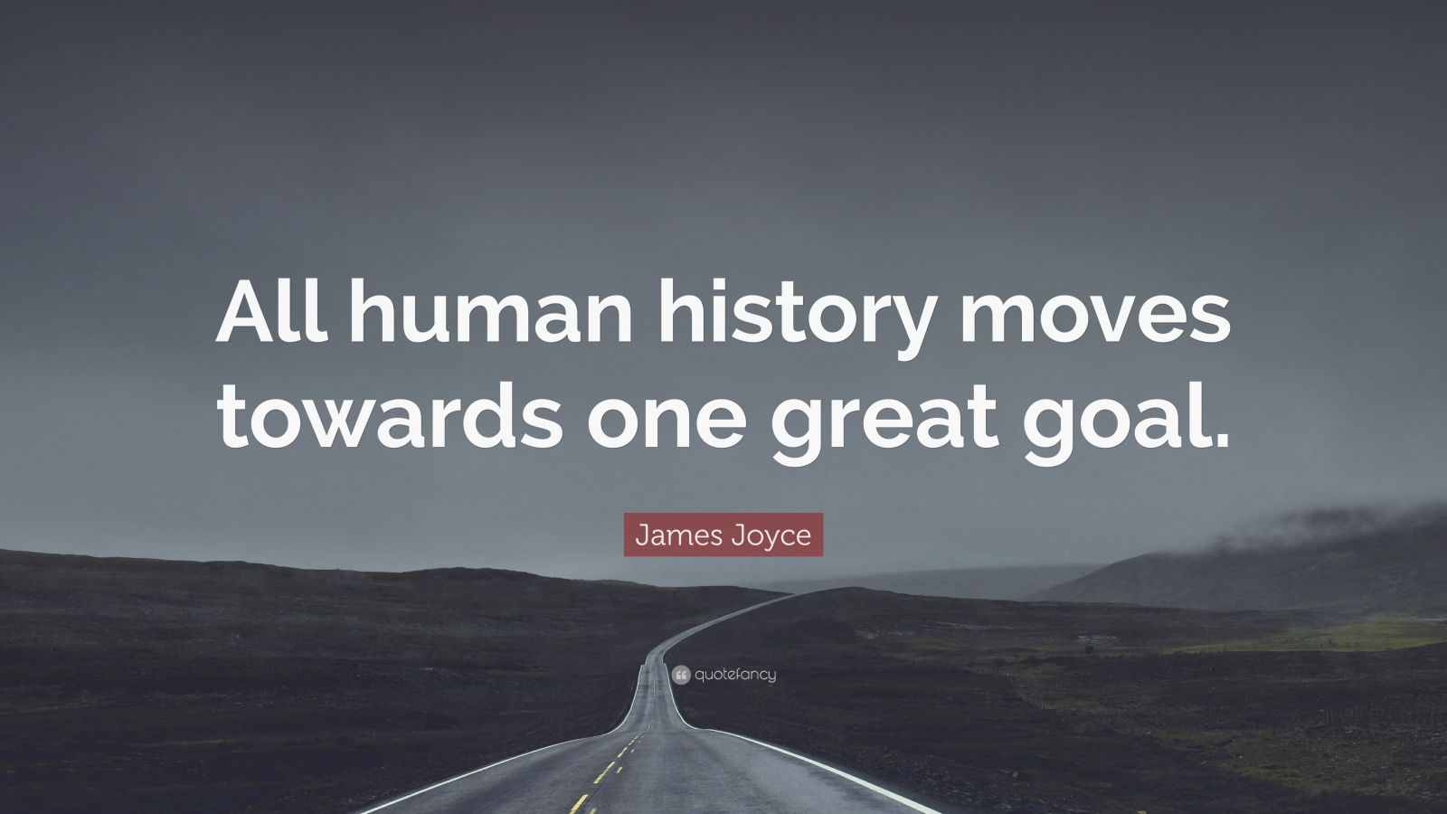 "James Joyce Quote: ""All human history moves towards one great goal."""