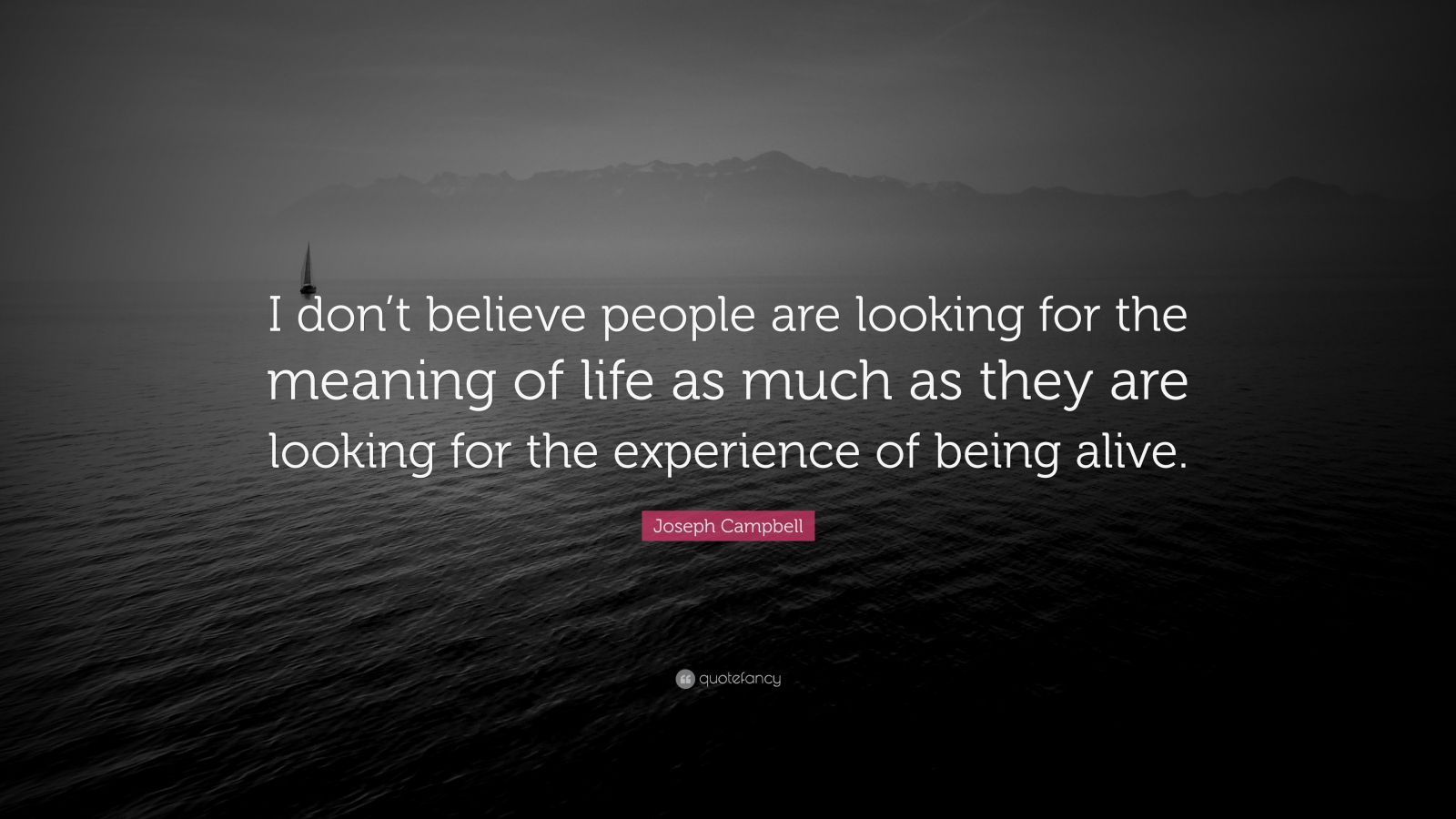 "Joseph Campbell Quote: ""I Don't Believe People Are Looking"