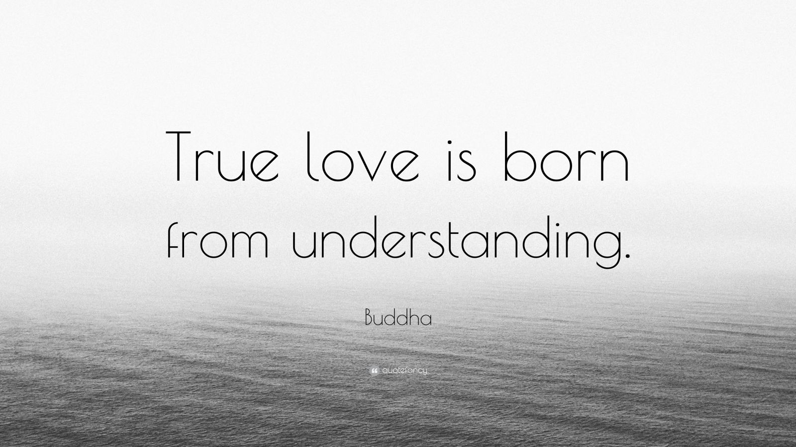 """Buddha Quote: """"True Love Is Born From Understanding."""" (12"""