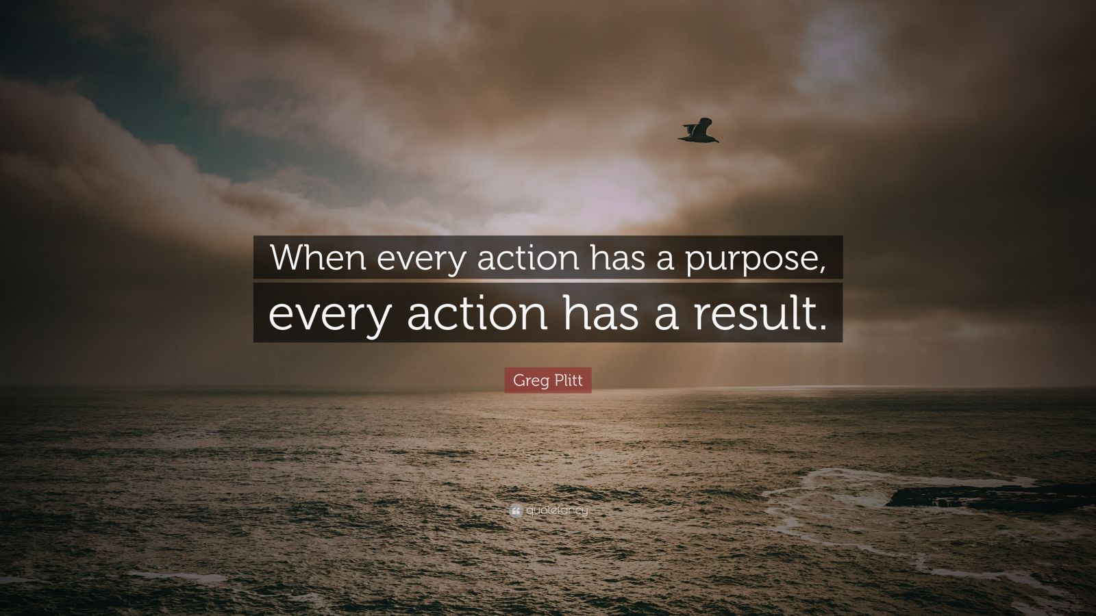 """Greg Plitt Quote: """"When every action has a purpose, every action has a result."""""""